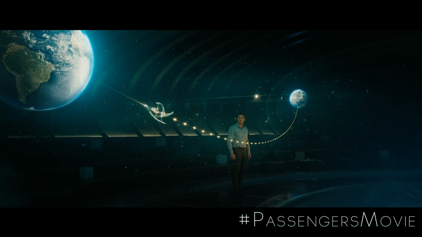 Passengers the art of vfxthe art of vfx for Passengers spaceship